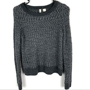 Anthropologie by Moth Woven Wool Textured Sweater